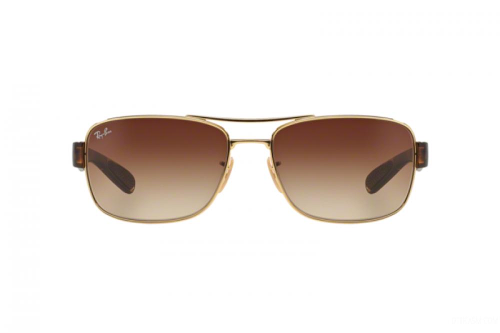 سعر نظارة ريبان شمسية للرجال - مستطيلة الشكل - لون ذهبي - زكي للبصريات