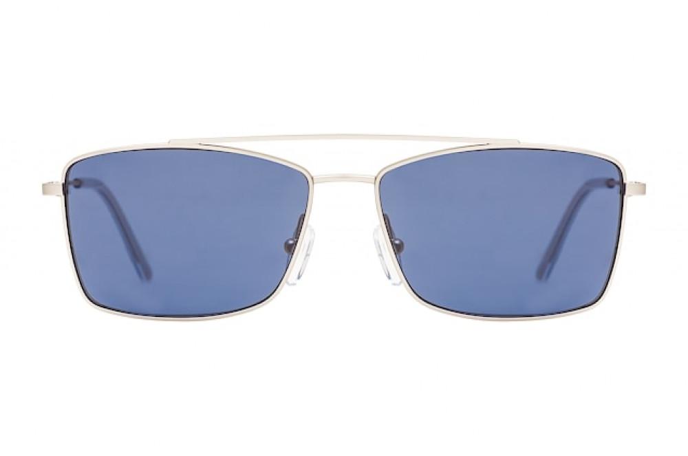 سعر نظارات كالفن كلاين الشمسية للرجال - شكل مستطيل - لون فضي - زكي