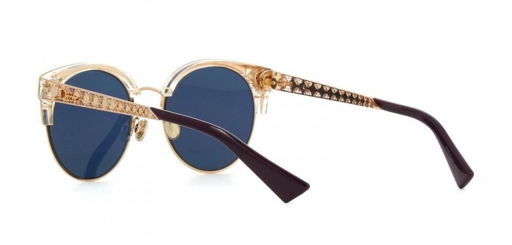 افضل نظارات شمسية نسائية ديور - شكل كات أي - لونها ذهبي - زكي