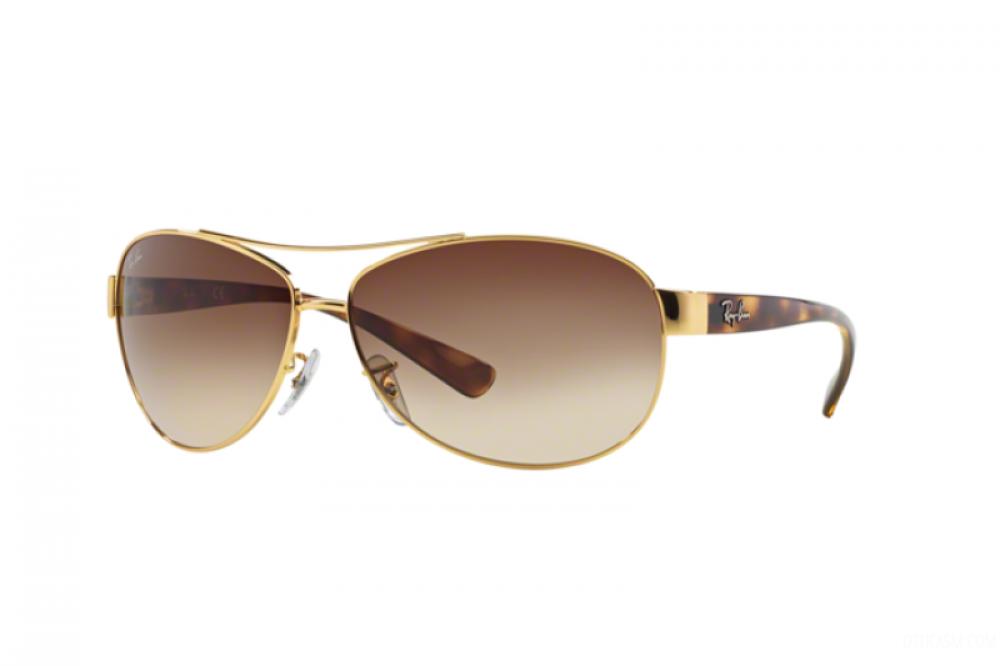 نظارة ريبان شمسية للرجال - افياتور - ذهبية - زكي للبصريات