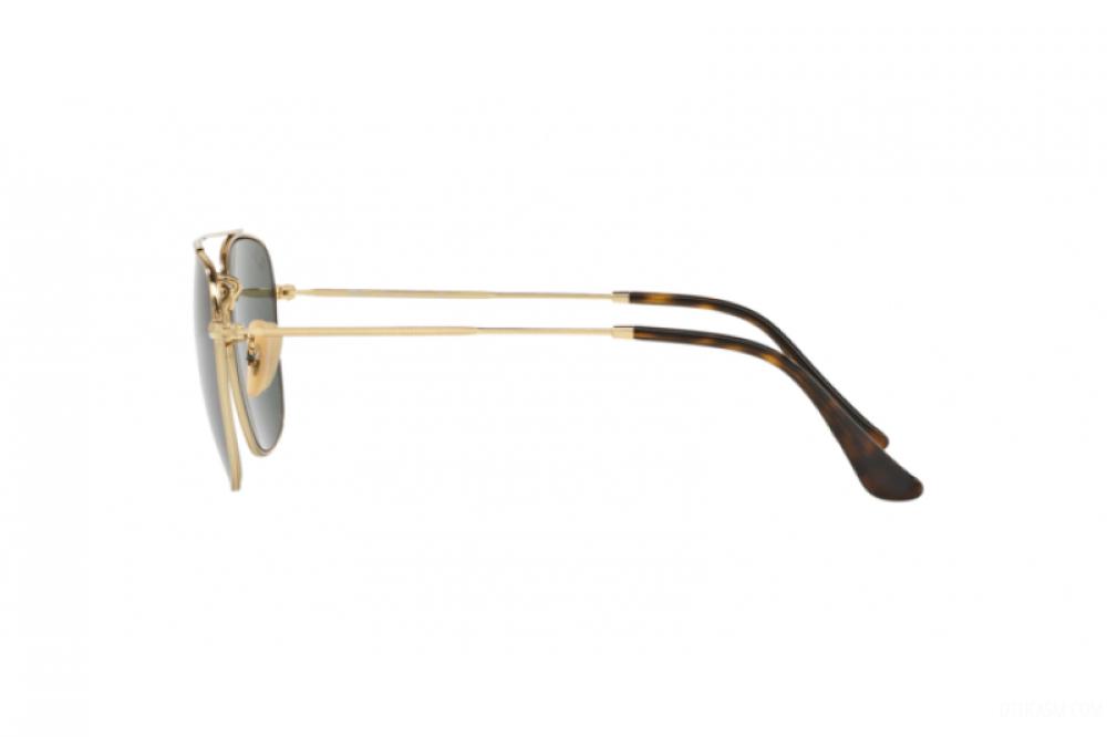 احسن نظارة ريبان شمسية للرجال والنساء - مربعة الشكل - ذهبية اللون - زك