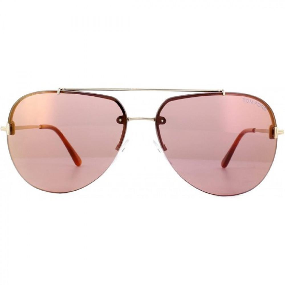نظارات توم فورد نسائي شمسيه - شكل افياتور - لون ذهبي - زكي للبصريات