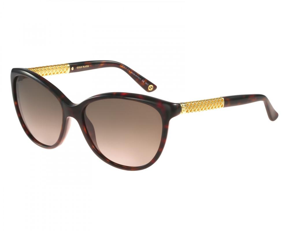 نظارة قوتشي نسائي شمسية - شكل كات اي - لون تايقر - زكي للبصريات