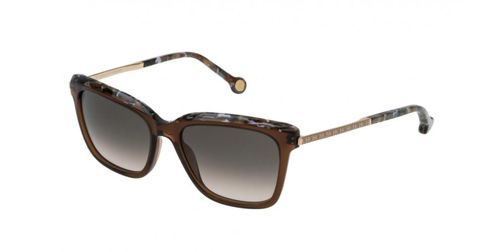 نظارات كارولينا شمسيه للنساء - شكل مستطيل - لون بني - زكي