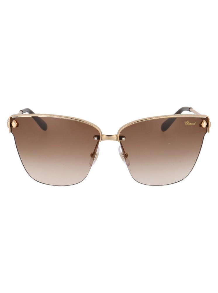 افضل نظارات شوبارد نسائية شمسية - شكل غير منتظم - لون عسلي - زكي