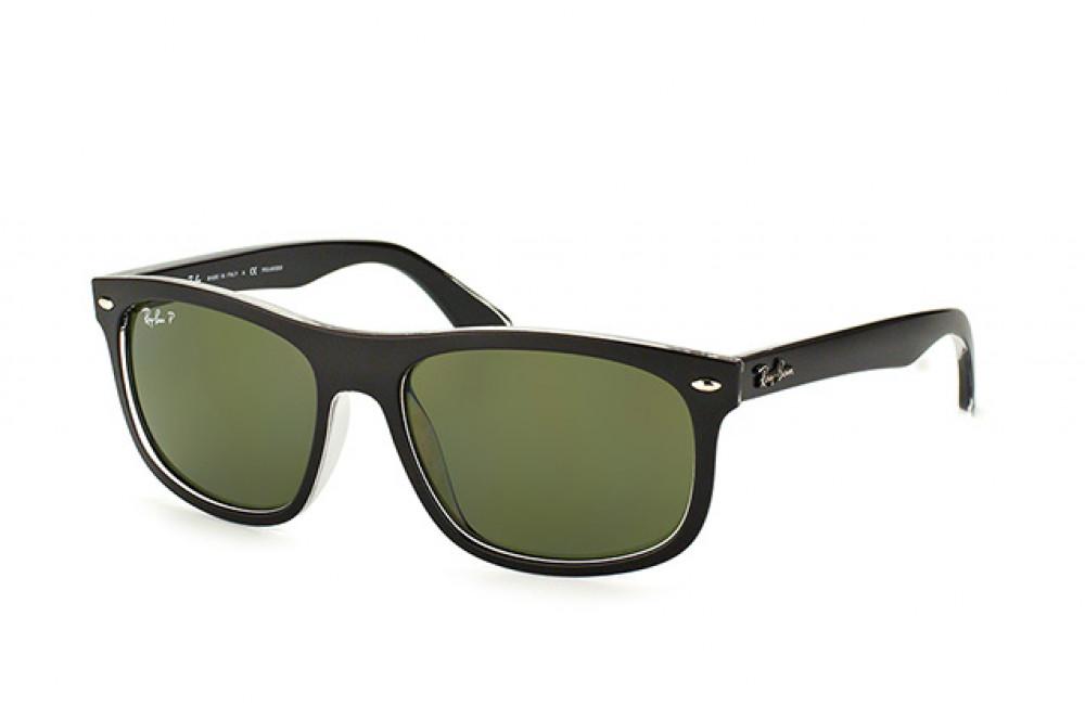نظارة ريبان شمسية للرجال -  أسود - شكل مربع - زكي للبصريات