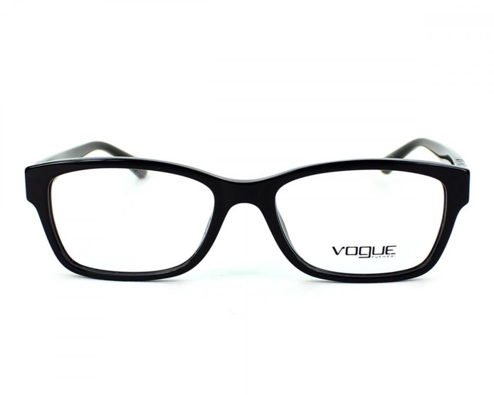 نظارات فوج vogue شمسيه للنساء - شكل مستطيل - لون أسود - زكي للبصريات