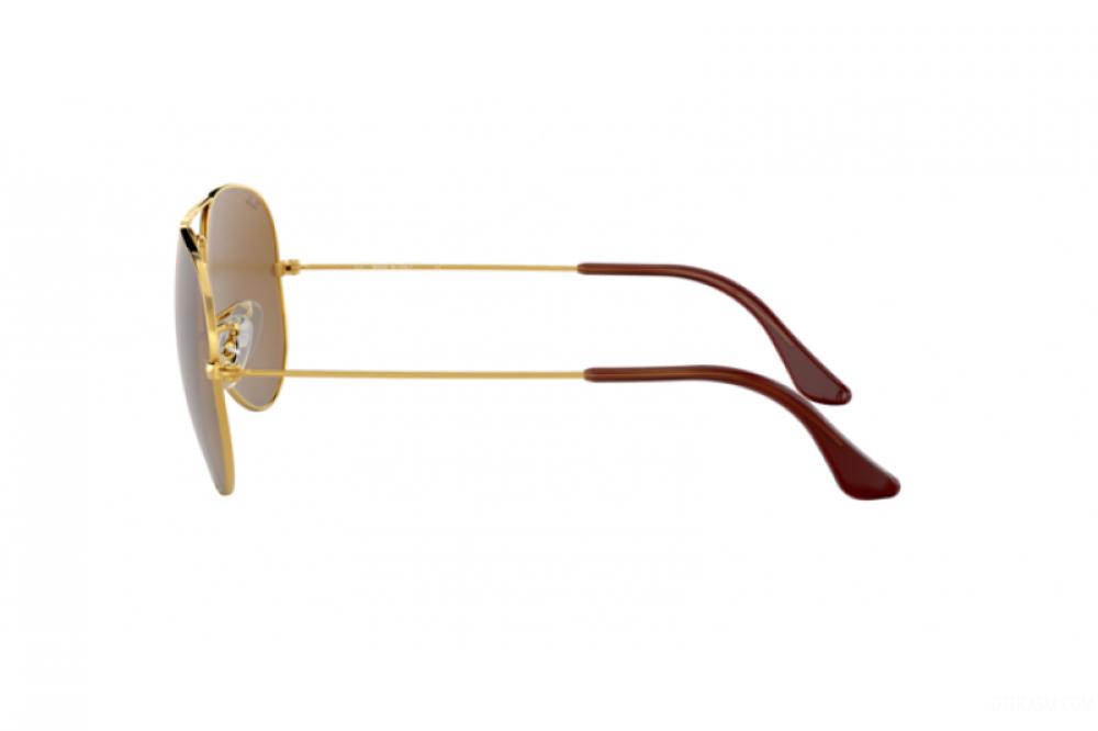 احسن نظارة ريبان شمسية للرجال - شكل افياتور - اللون ذهبي - زكي للبصريا