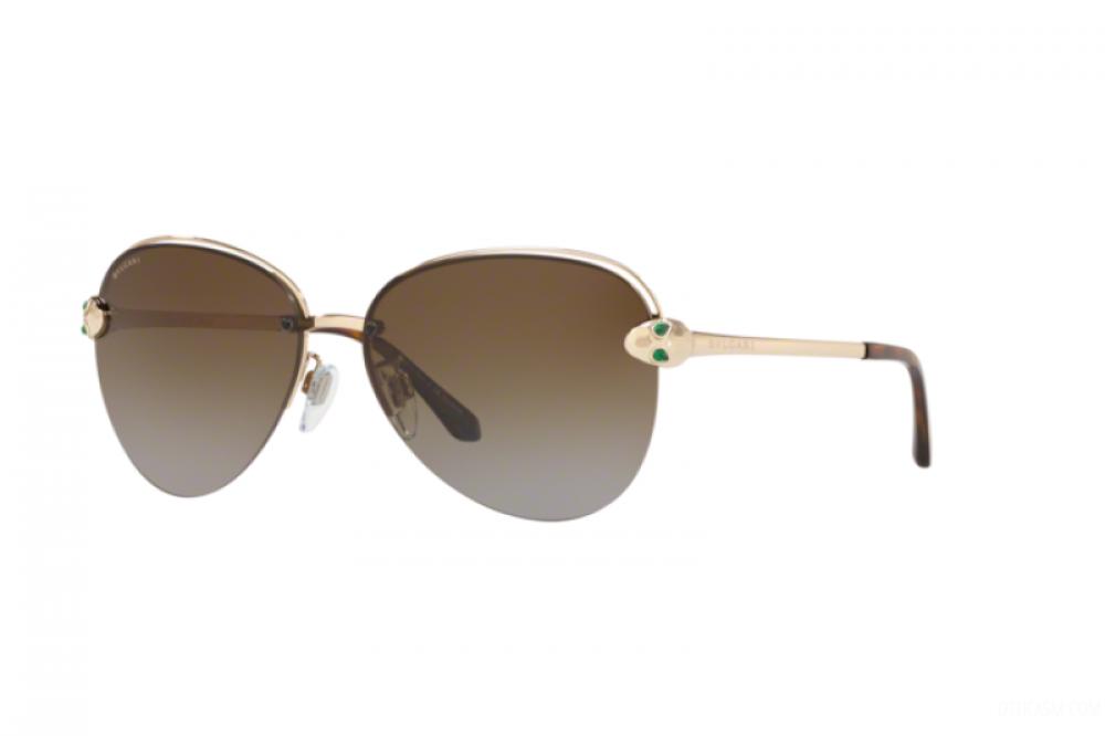 نظارة بولغاري نسائي شمسية - شكل افياتور - لون ذهبي - زكي