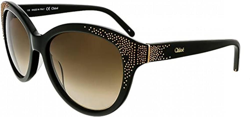 نظارة كلوي شمسية للنساء - شكل دائري - لون بني - زكي