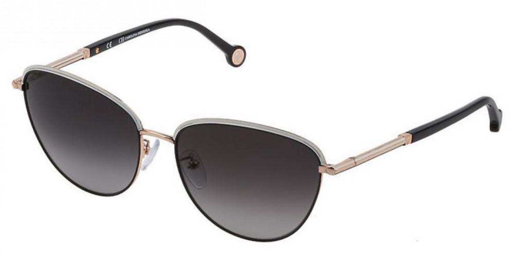 نظارات كارولينا شمسية للنساء - شكل كات اي - لون أسود - زكي