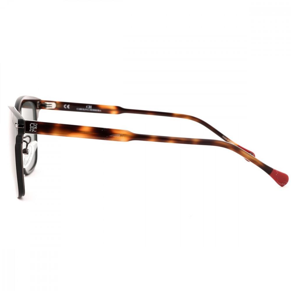 كارولينا هيريرا نظارة شمسية للجنسين - شكل واي فيرر - لون أسود - زكي