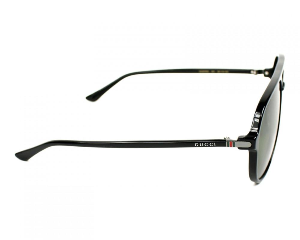 افضل نظارة قوتشي شمسية للرجال - افياتور - لون اسود - زكي للبصريات