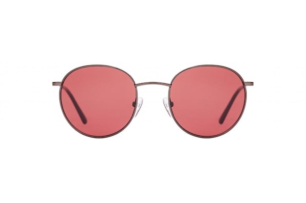 نظارات كالفن كلاين الشمسيه للجنسين - شكل دائري - بنية - زكي للبصريات