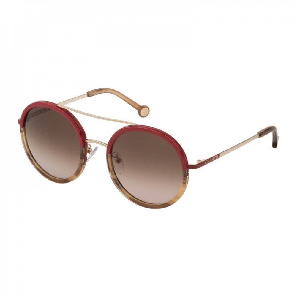 نظارات كارولينا شمسية للنساء - شكل دائري - لون أحمر - زكي