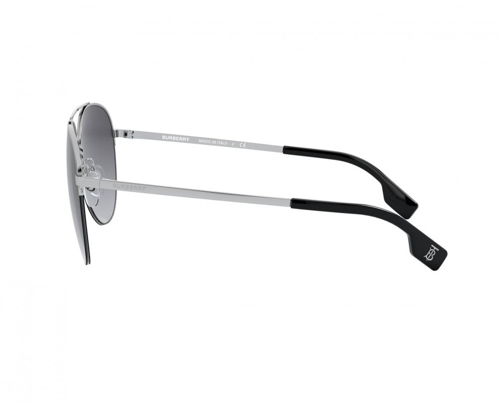 سعر نظارة بربري شمسية للرجال - افياتور - لون فضي - زكي للبصريات