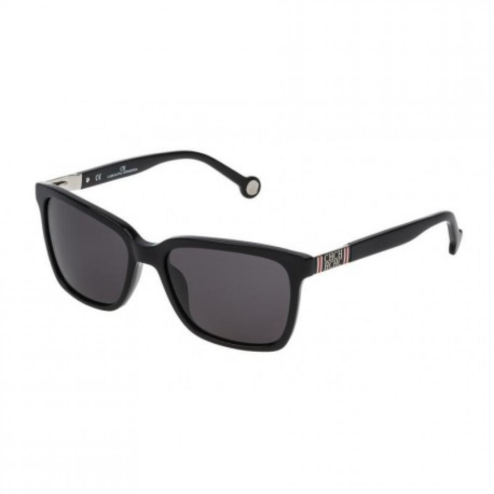 نظارات كارولينا شمسية للنساء - شكلها مستطيل - لونها اسود - زكي