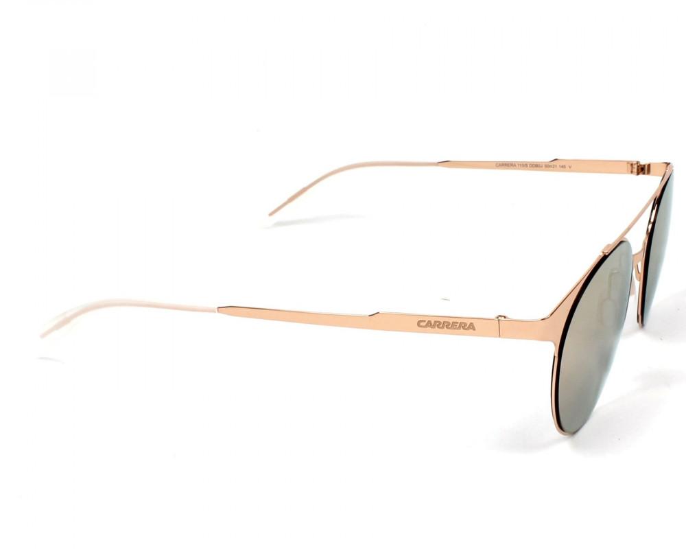 احسن نظارة كاريرا شمسية للجنسين - شكل دائري - لون ذهبي - زكي للبصريات