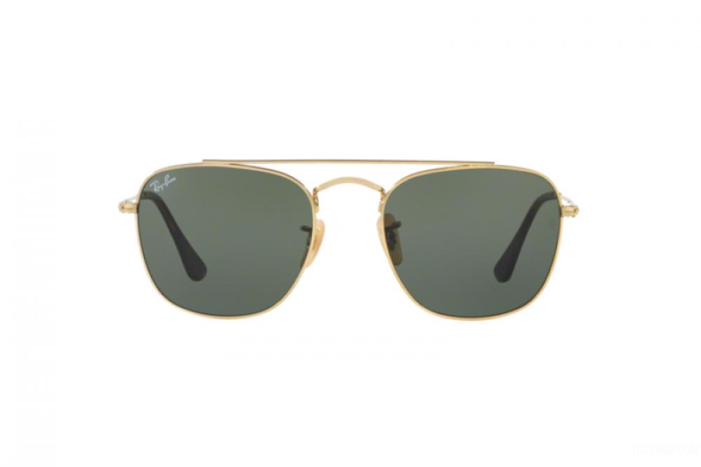 افضل نظارة ريبان شمسية للرجال والنساء - مربعة الشكل - ذهبية اللون - زك
