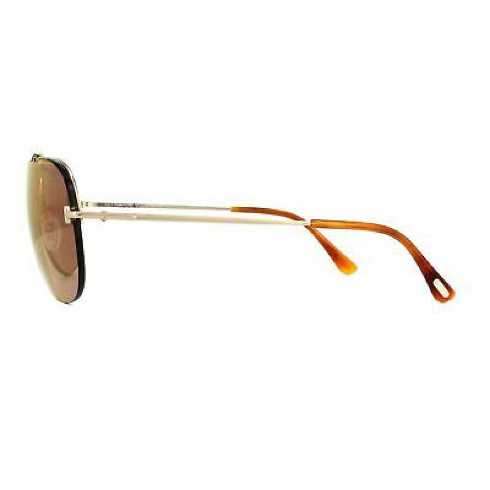 نظارات توم فورد نسائي شمسية - شكل أفياتور - لون ذهبي - زكي للبصريات