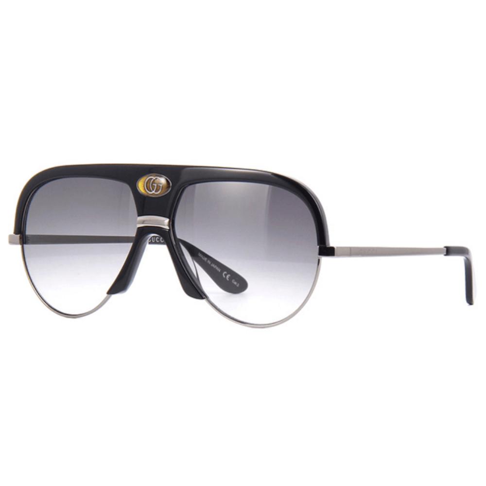 نظارة قوتشي شمسية للرجال - شكل افياتور - باللون اسود - زكي للبصريات