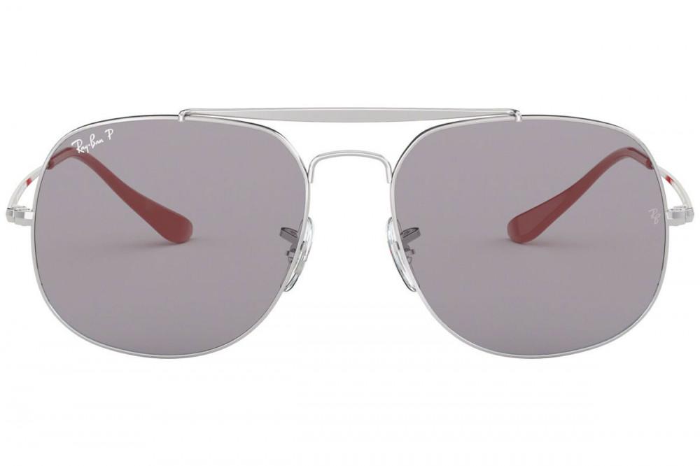 افضل نظارة ريبان شمسية للرجال - لون فضي - مربعة الشكل - زكي للبصريات