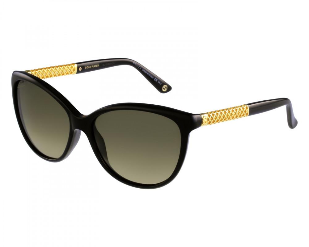 نظارة قوتشي نسائي شمسيه - شكل كات أي - لون أسود - زكي للبصريات