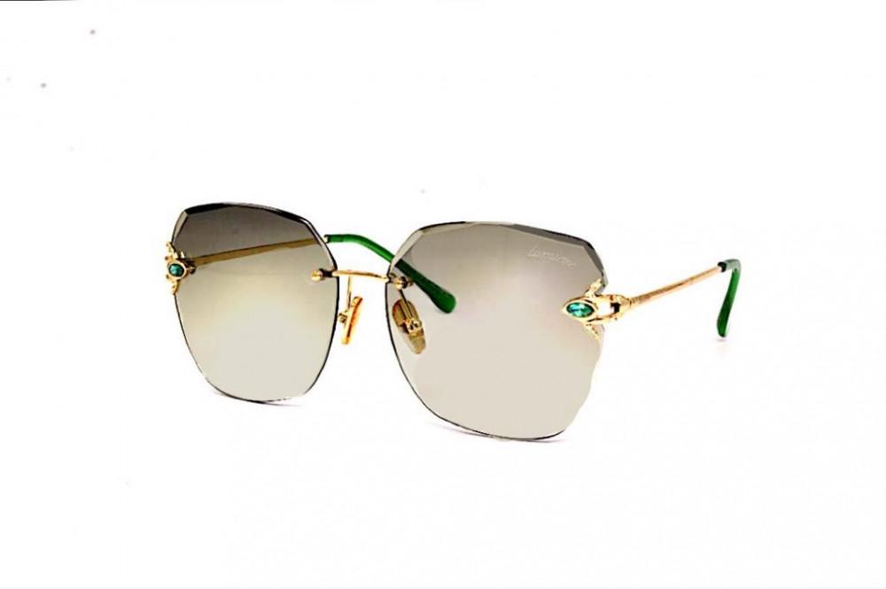 نظارة لومير شمسية للنساء - شكل مربع - لون أخضر - زكي