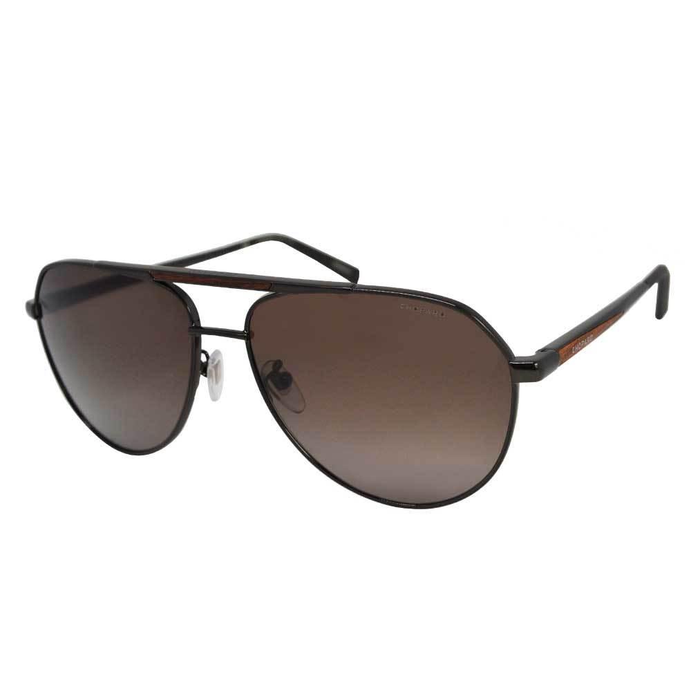 نظارة شوبارد شمسية للرجال - شكل أفياتور - لون أسود - زكي للبصريات