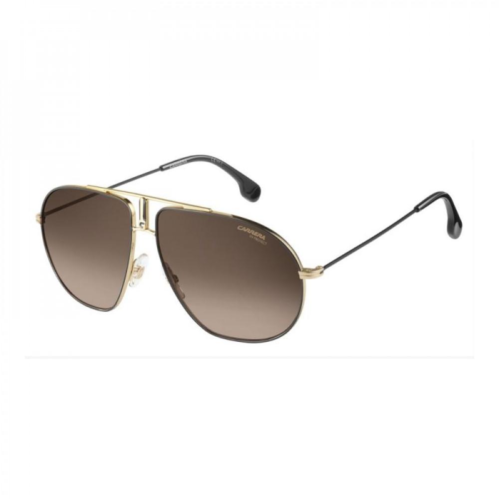 نظارة كاريرا شمسية للرجال - شكلها افياتور - لون ذهبي - زكي للبصريات