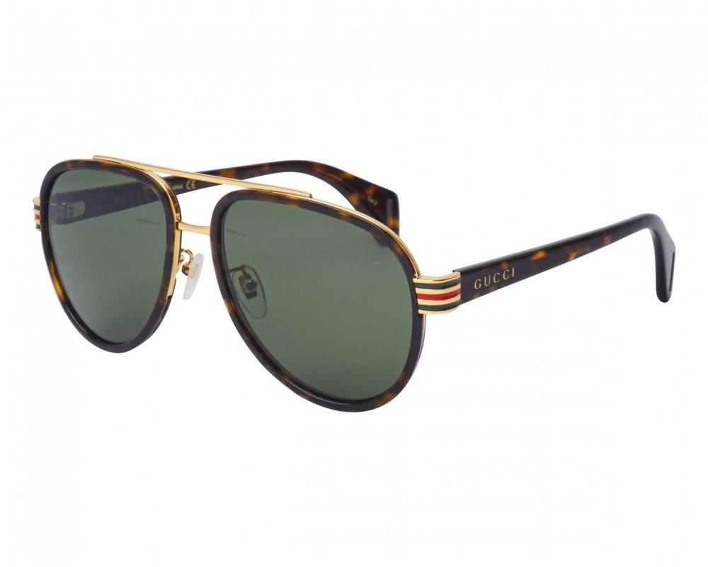 نظارة قوتشي شمسية للجنسين - شكل افياتور - لون تايقر - زكي للبصريات