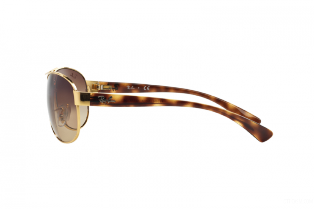 احسن نظارة ريبان شمسية للرجال - افياتور - ذهبية - زكي للبصريات