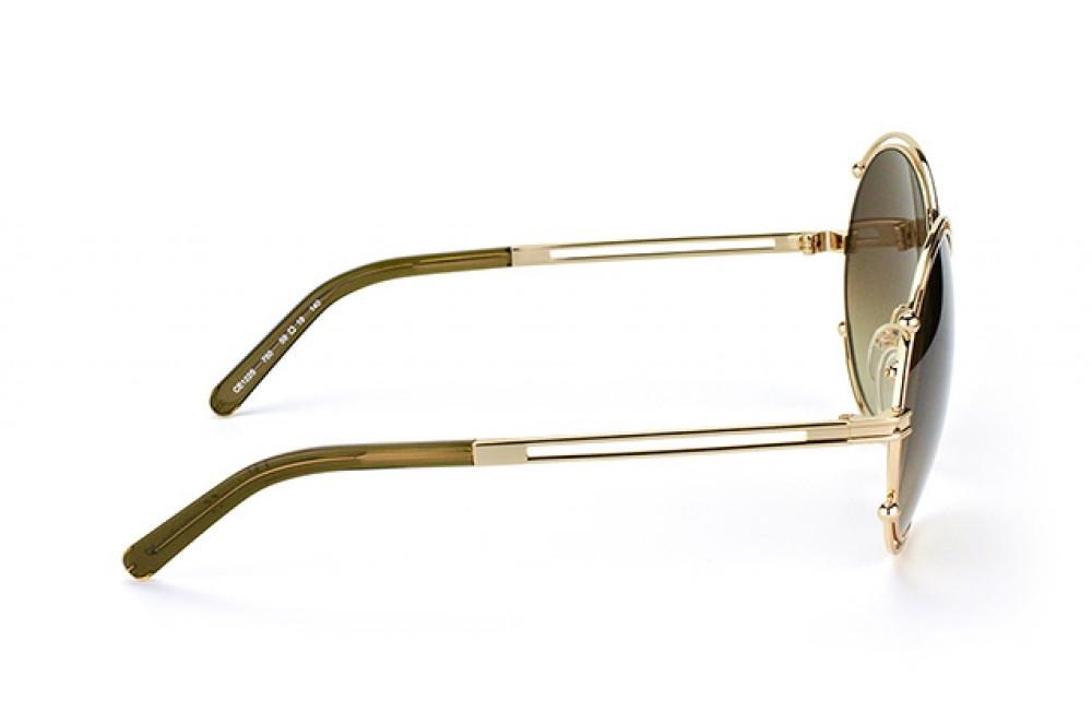 شراء نظارة كلوي شمسية للنساء - شكل دائري - لون ذهبي - زكي للبصريات