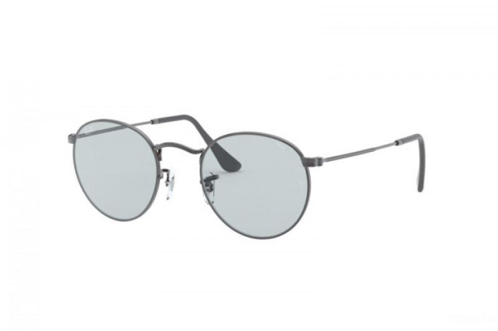 نظارة ريبان شمسية للرجال والنساء - دائرية - فضية - زكي للبصريات