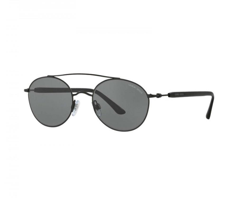 نظارة جورجيو ارماني شمسية للجنسين - دائرية - لون أسود - زكي