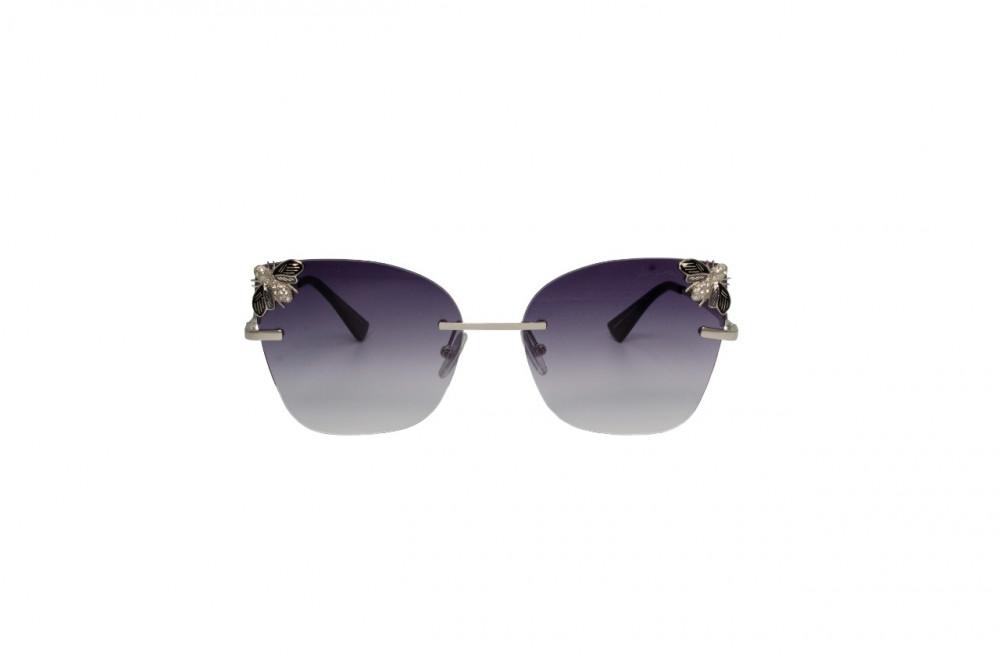 سعر نظارة لومير شمسية للنساء - شكل كات أي - لون فضي - زكي