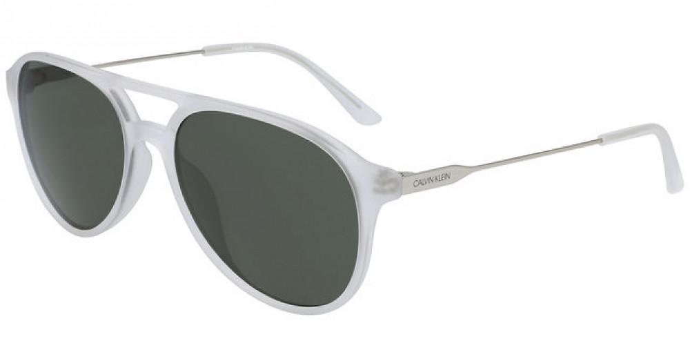 نظارات كالفن كلاين الشمسية للرجال - شكل افياتور - شفافة - زكي للبصريات