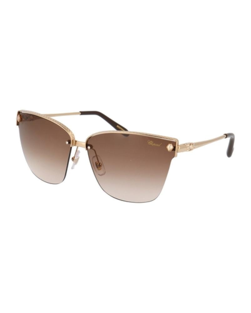 نظارات شوبارد نسائية شمسية - شكل غير منتظم - لون عسلي - زكي