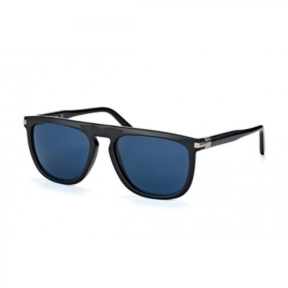 نظارات كالفن كلاين الشمسية للرجال - شكل مستطيل - لون أسود - زكي