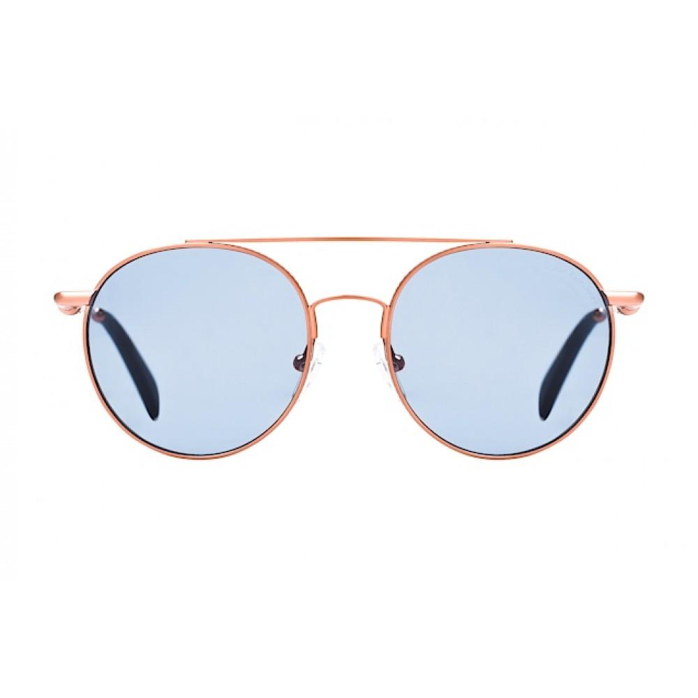شراء نظارات كالفن كلاين الشمسيه للجنسين - شكل دائري - لون ذهبي - زكي