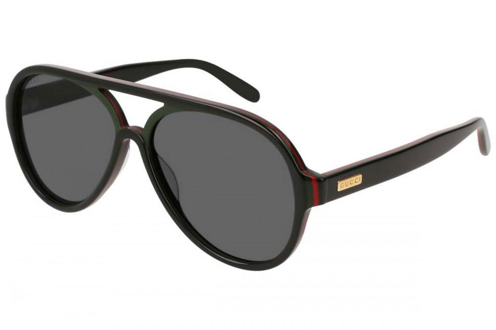 نظارة قوتشي شمسية رجالية - شكل افياتور - لون اسود - زكي للبصريات