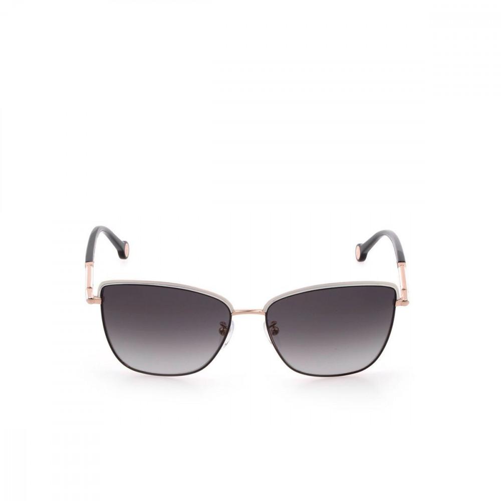 افضل نظارات كارولينا شمسية للنساء - شكل كات اي - لون ذهبي - زكي