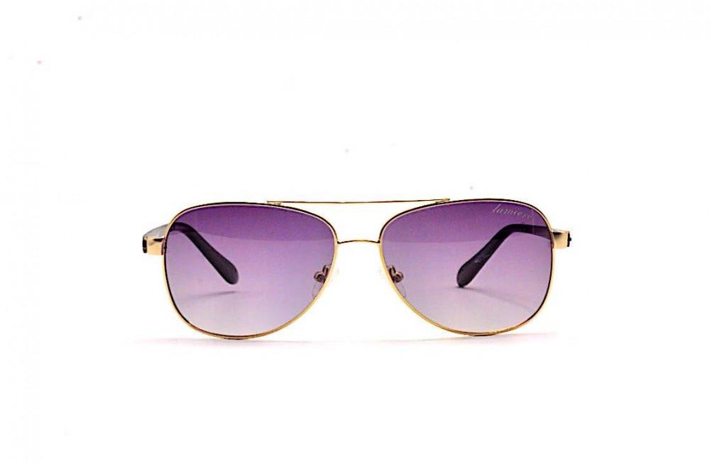 سعر نظارة لومير شمسية للرجال - شكل افياتور - اللون ذهبي - زكي