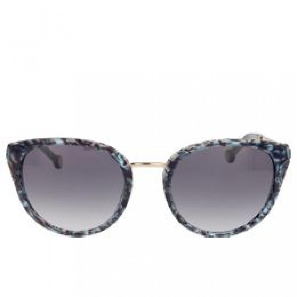 افضل نظارات كارولينا شمسية للنساء - الشكل دائري - لون اسود - زكي
