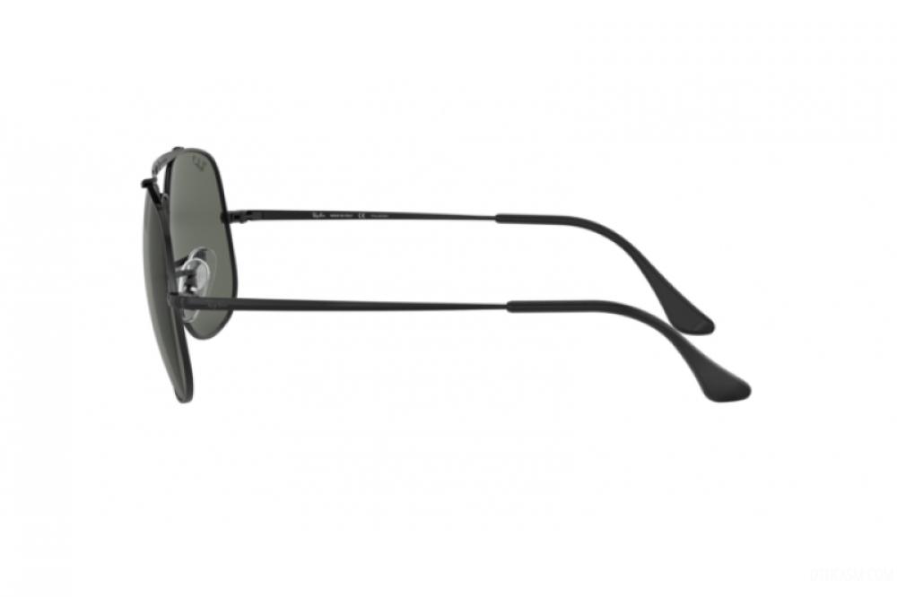 افضل نظارة ريبان شمسية للرجال - مربعة الشكل - لون اسود - زكي للبصريات