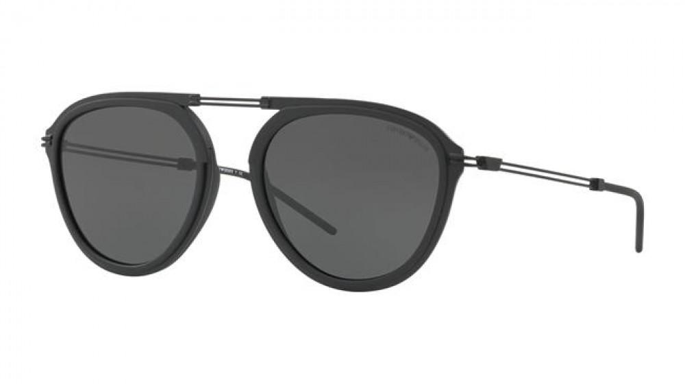 نظارة امبريو ارماني شمسية للرجال - افياتور - لون أسود - زكي للبصريات
