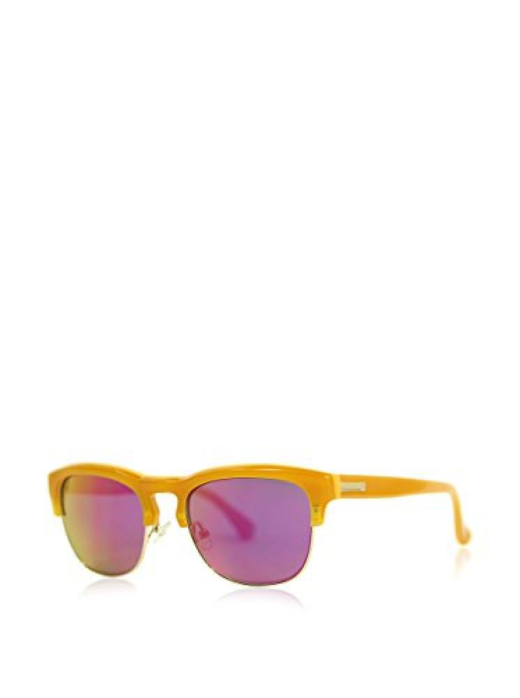 نظارة شمسية كالفن كلاين للنساء - شكل كات أي - لون أصفر - زكي