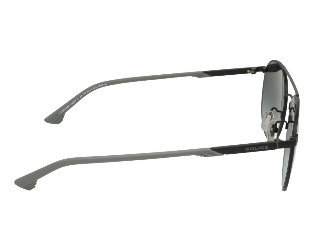 احسن نظارة بوليس شمسيه رجالية - شكل دائري - لون اسود - زكي للبصريات