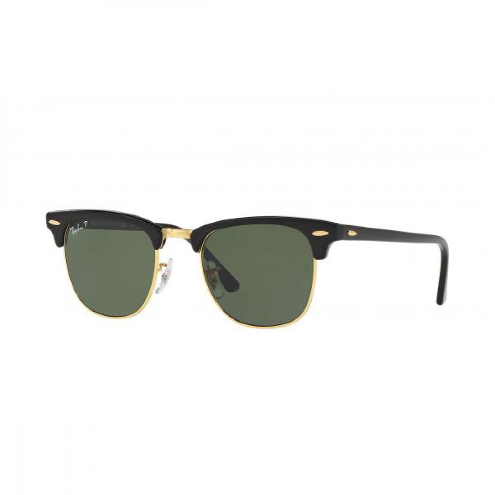 نظارة ريبان شمسيه رجالية - شكل واي فير - لون اسود - زكي للبصريات