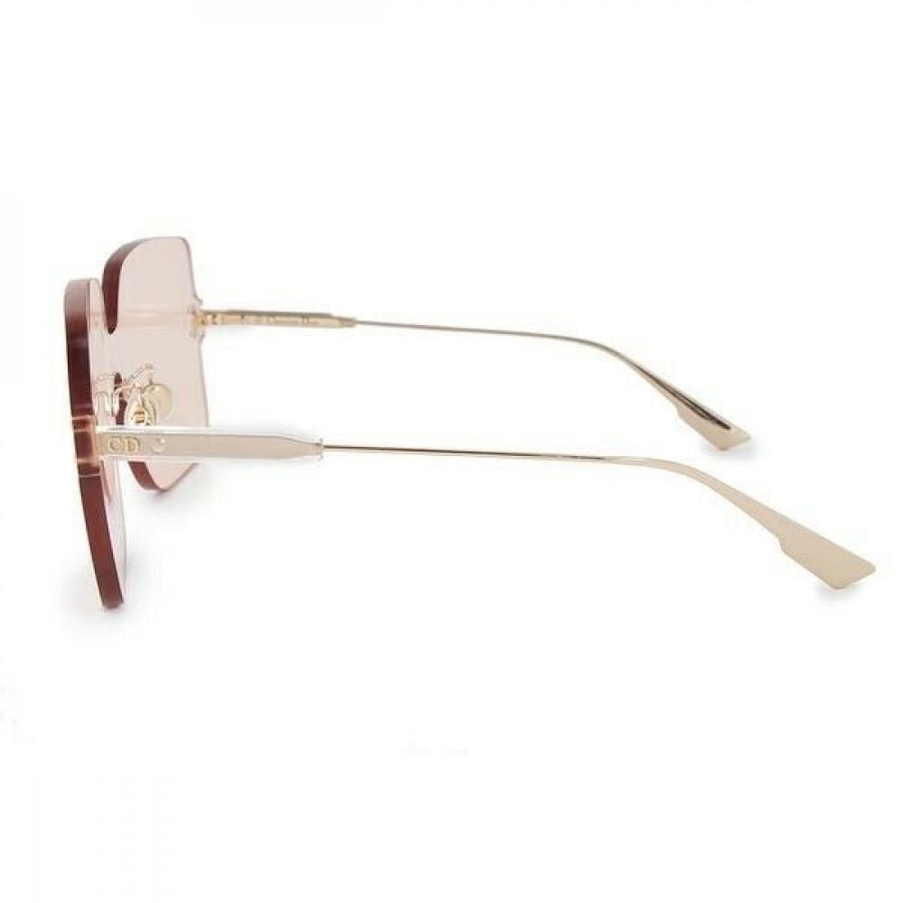اجمل نظارات شمسية نسائية ديور - شكل مربع - لون وردي - زكي